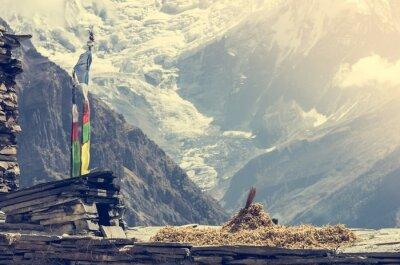 Posters Vue sur la montagne, Annapurnas au Népal.