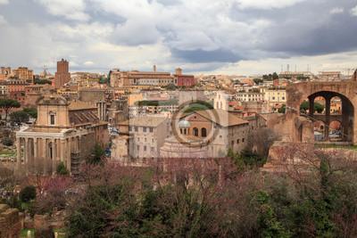 Vue sur le centre historique de Rome en Italie