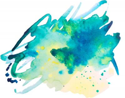 Posters watercolor blot, background, isolated on white background
