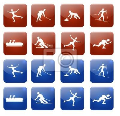 Web icons, sport d'hiver