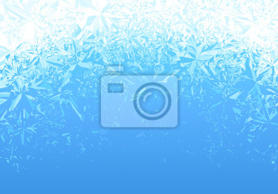 Posters Winter blue ice frost background