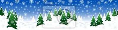 Winter, Schnee, Tannen, Illustration, Sports d'hiver, Skigebiet