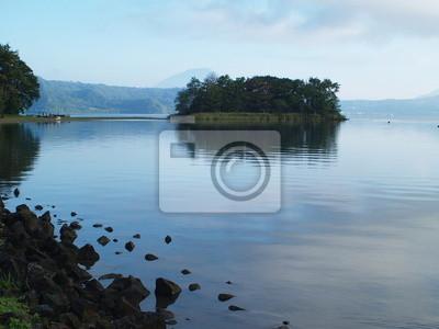 洞 爺 湖 の 朝