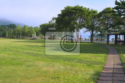 湖畔 の 公園