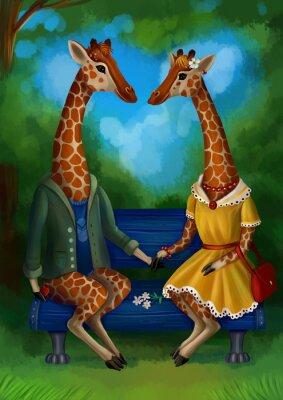 Posters Жираф на свидание