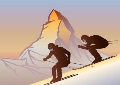 Posters Kayakçılar ve Matterhorn