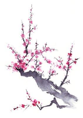 Posters 梅 水墨画