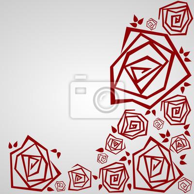 Zaproszenie z Różami