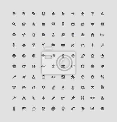 100 boutons de l'interface