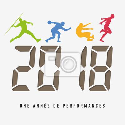2018 - carte de vœux - sport - performance - entreprise - challenge - année - gagnant