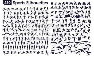 Sticker 250 silhouettes de sport