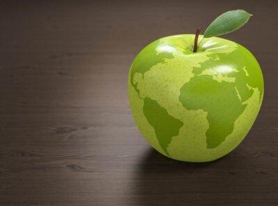 Sticker 3d apple mondiale de la Santé
