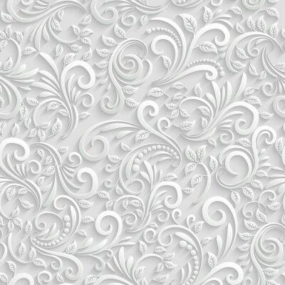 Sticker 3d Floral Seamless Background