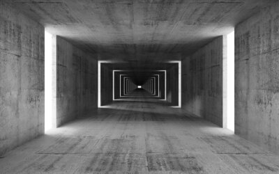 3d render, abstrait vide fond gris intérieur béton