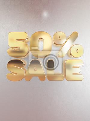 50 pour cent de vente