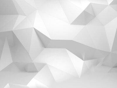 Abstract 3d fond blanc avec motif polygonal