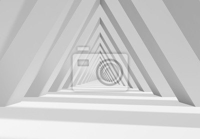 Abstract 3d triangle shaped tunnel