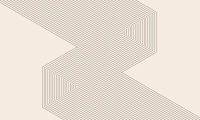 Sticker abstract art lines background. monochrome stripes