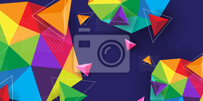 Sticker Abstract background modern and colorful