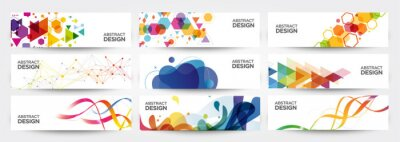 Sticker abstract banners