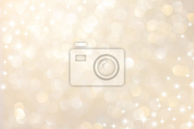 Sticker abstract blur soft gradient gold color background with star glittering light for show,promote and advertisee product and content in merry christmas and happy new year season collection concept