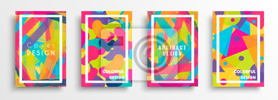 Sticker Abstract color background set for creative design