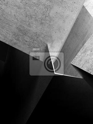 Abstract concrete structures 3 d