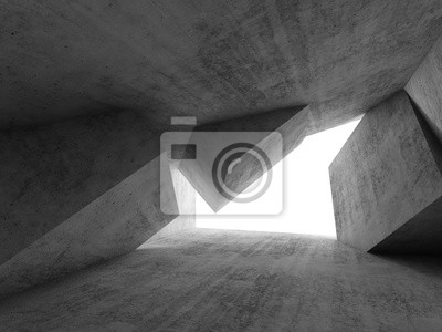 Abstract dark empty concrete room,