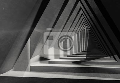 Abstract dark triangular tunnel