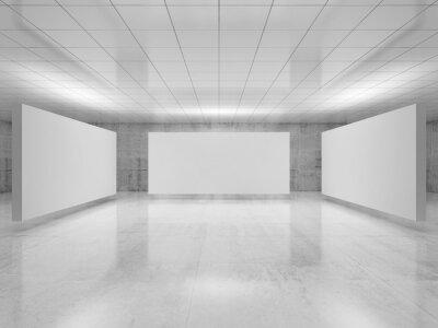 Abstract empty minimalist interior 3 d