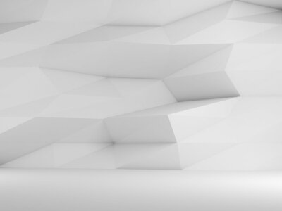 Abstract empty white interior background 3 d