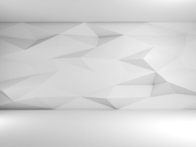 Abstract empty white interior, cgi background 3d
