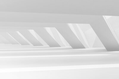 Abstract empty white interior, digital graphic background