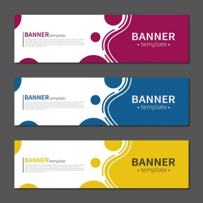 Sticker Abstract geometric design banner web template. Vector liquid shape layout banners. Template ready for use in web or print design.