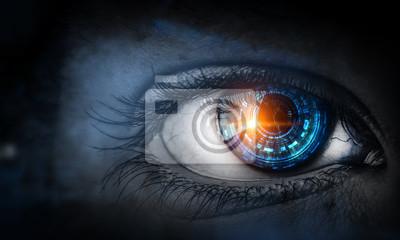 Sticker Abstract high tech eye concept