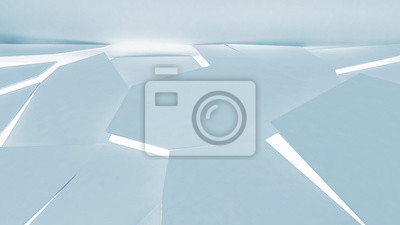Abstract light blue cg background, polygonal fragmented floor