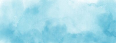 Sticker Abstract light blue watercolor for background