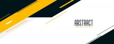 Sticker abstract memphis wide geometric banner design