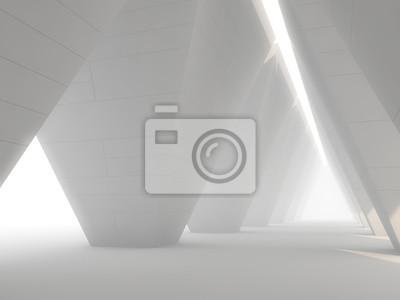 Sticker Abstract modern architecture background. 3D
