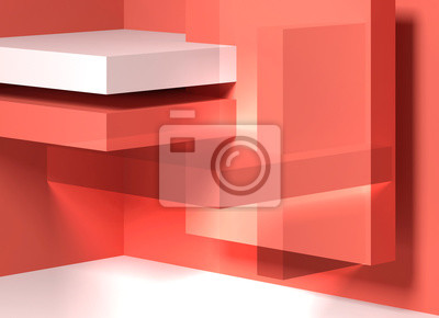 Abstract red white digital background