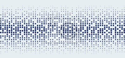Sticker Abstract technology futuristic style big data blue geometric circle pattern on white background and texture.