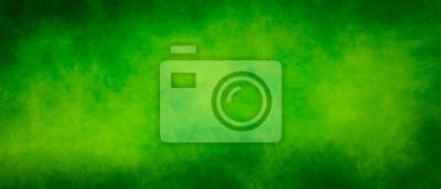 Sticker Abstract vintage green splash design background with dark borders