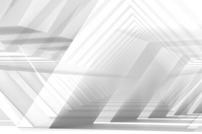 Abstract white digital background, low poly structures