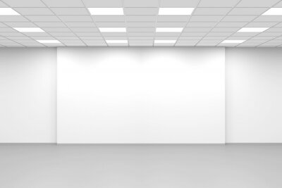 Abstract white empty open space office interior