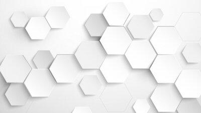 Sticker Abstract white hexagon background. Vector Illustration