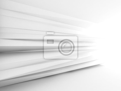 Abstract white interior background 3d