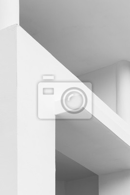 Abstract white minimal architecture details