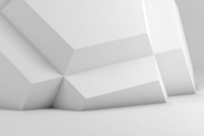 Abstract white modern interior background 3d art