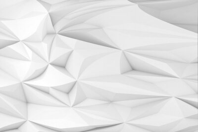 Abstract white triangular pattern. Low-poly background