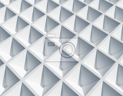 Abstrait architecture. Surface cellulaire carré blanc